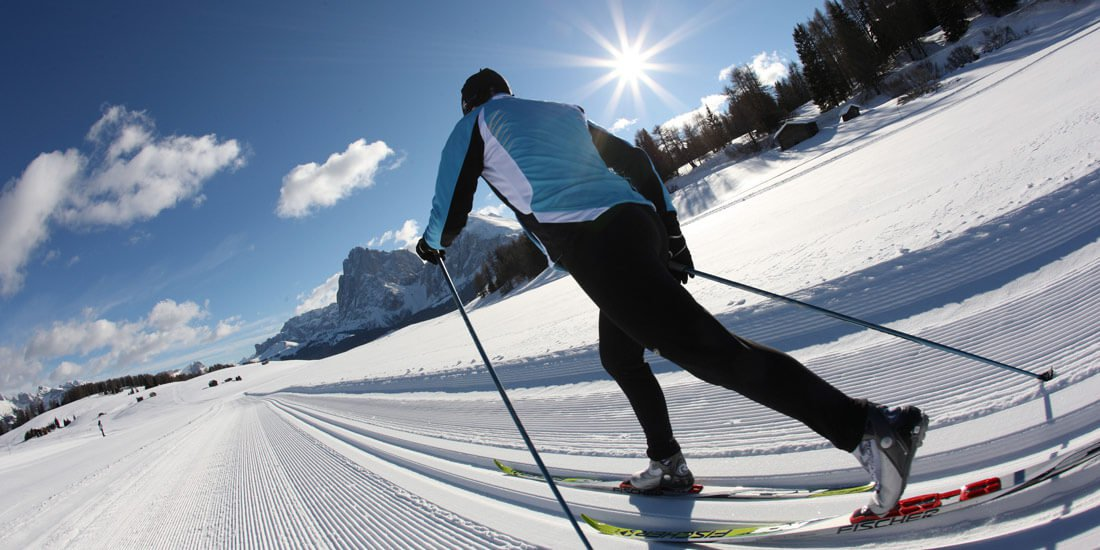 Cross-country skiing at the Plose ski resort