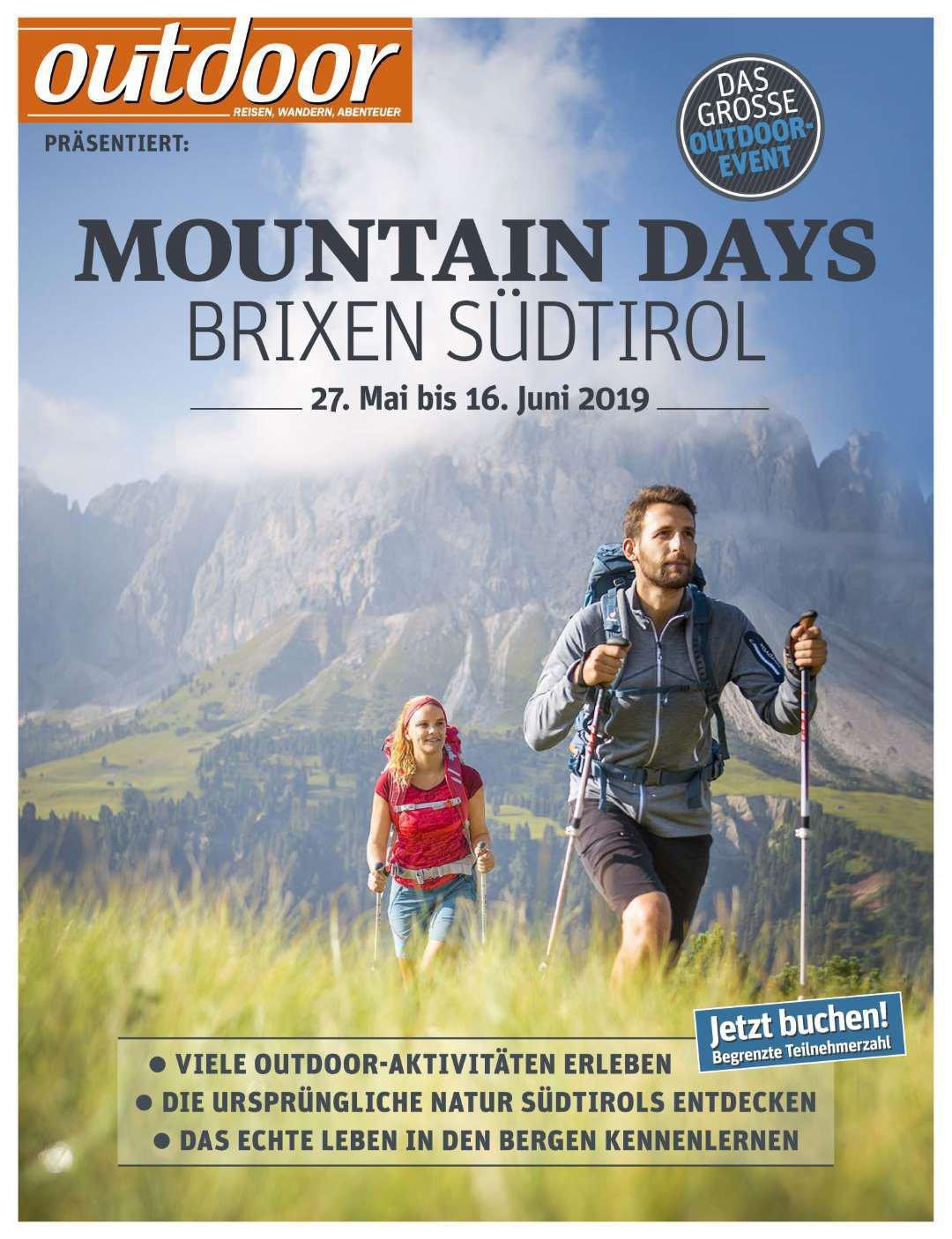 Outdoor presenta: Mountain Days Bressanone-Alto Adige