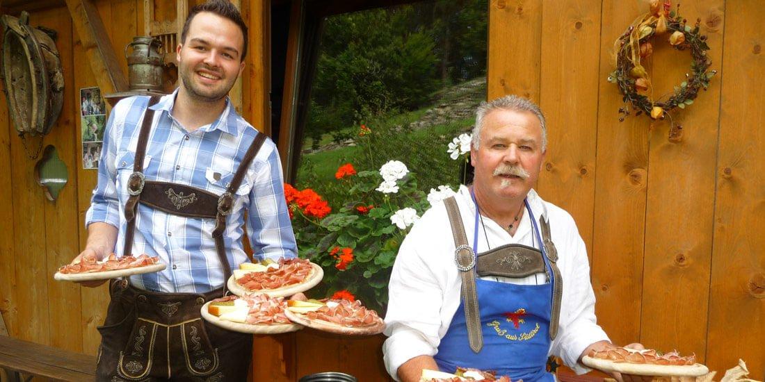 Traditional Eisack valley specialties in our restaurant in Vahrn
